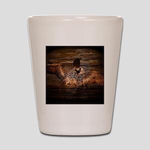 barnwood wild loon Shot Glass