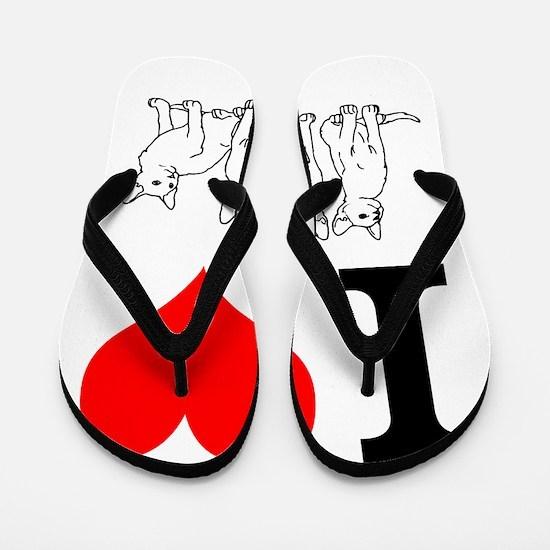 I love cats Flip Flops