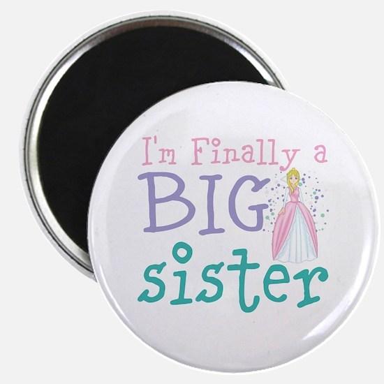 "I'm finally a big Sister 2.25"" Magnet (100 pack)"