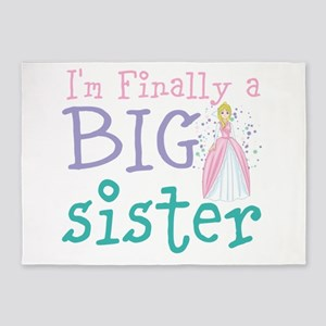 I'm finally a big Sister 5'x7'Area Rug