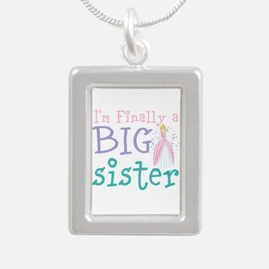 I'm finally a big Sister Silver Portrait Necklace