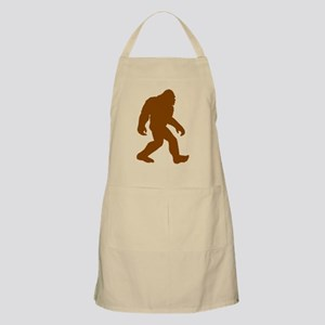 Brown Bigfoot Silhouette Apron