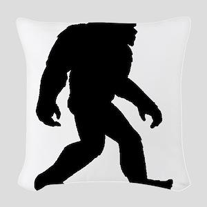 Bigfoot Silhouette Woven Throw Pillow