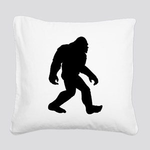 Bigfoot Silhouette Square Canvas Pillow