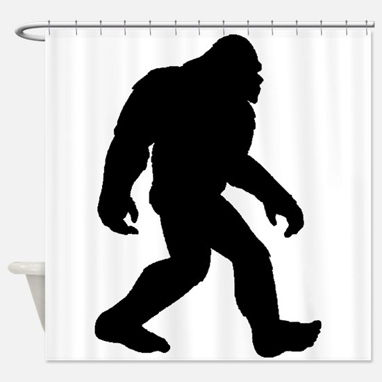 Bigfoot Silhouette Shower Curtain