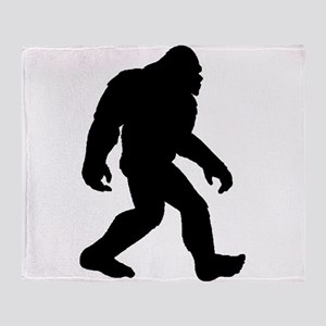 Bigfoot Silhouette Throw Blanket