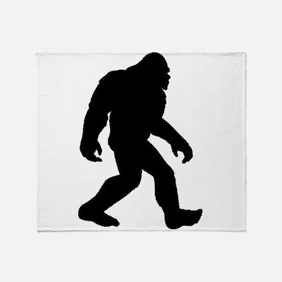 Bigfoot Silhouette Throw Blanket