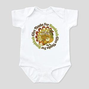 Give Thanks Hanukkah Infant Bodysuit