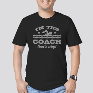 Funny Swim Coach Men's Fitted T-Shirt (dark)