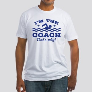 Funny Swim Coach Fitted T-Shirt