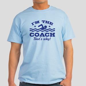 Funny Swim Coach Light T-Shirt