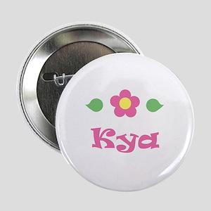 """Pink Daisy - """"Kya"""" Button"""
