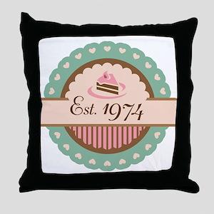1974 Birth Year Birthday Throw Pillow