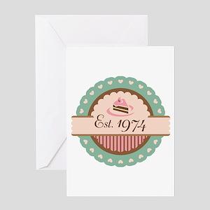 1974 Birth Year Birthday Greeting Card