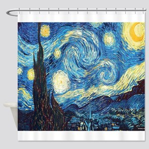 starry night van gogh Shower Curtain