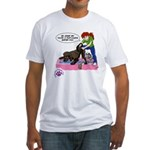Groomer Humor - Reluctant Bat Fitted T-Shirt
