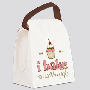 I Bake So I Don't Kill People Canvas Lunch Bag