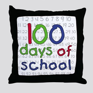 Numbers 100 Days Throw Pillow