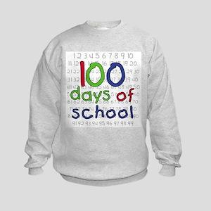 Numbers 100 Days Kids Sweatshirt