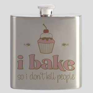 I Bake So I Don't Kill People Flask