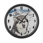 Alaskan Malamute Large Wall Clock