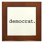 democrat. Framed Tile