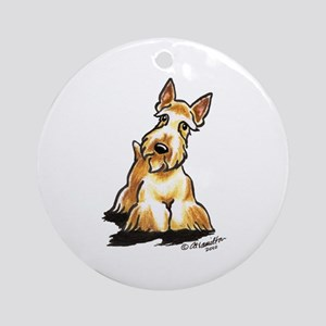 Wheaten Scottie Art Ornament (Round)