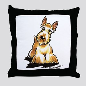 Wheaten Scottie Art Throw Pillow