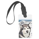 Alaskan Malamute Large Luggage Tag