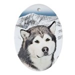 Alaskan Malamute Oval Ornament