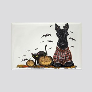 Halloween Scottie Rectangle Magnet