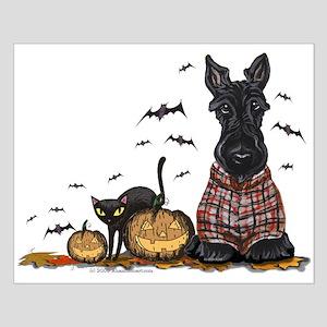 Halloween Scottie Small Poster