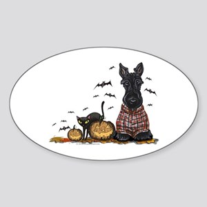 Halloween Scottie Sticker (Oval)