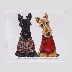 Sweater Scotties Throw Blanket