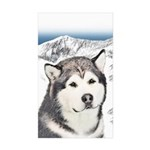Alaskan Malamute Sticker (Rectangle 50 pk)