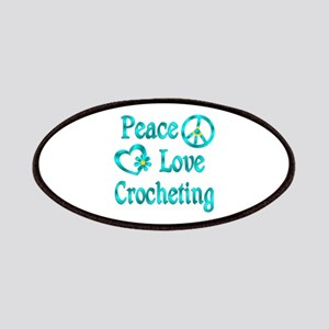 Peace Love Crocheting Patches