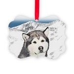 Alaskan Malamute Picture Ornament