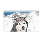 Alaskan Malamute 20x12 Wall Decal