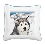 Alaskan Malamute Square Canvas Pillow
