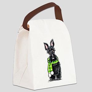 Scottie Scarf Canvas Lunch Bag