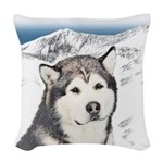 Alaskan Malamute Woven Throw Pillow