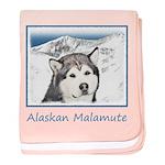 Alaskan Malamute baby blanket