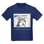 Alaskan Malamute Kids Dark T-Shirt