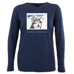 Alaskan Malamute Plus Size Long Sleeve Tee