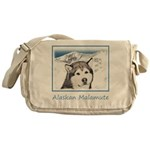 Alaskan Malamute Messenger Bag
