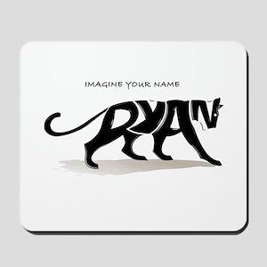 Ryan black panther Mousepad