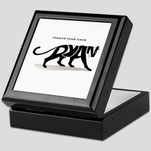 Ryan black panther Keepsake Box
