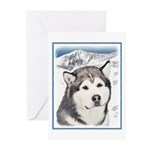 Alaskan Malamute Greeting Cards (Pk of 10)