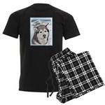 Alaskan Malamute Men's Dark Pajamas