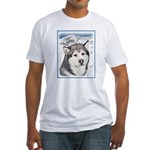 Alaskan Malamute Fitted T-Shirt